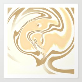 Vanilla Swirl Art Print
