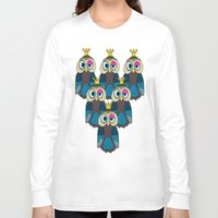 minions Long Sleeve T-shirts featuring Owl Minions  by Gabriel J Galvan