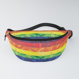 Rainbow Geometric Fanny Pack