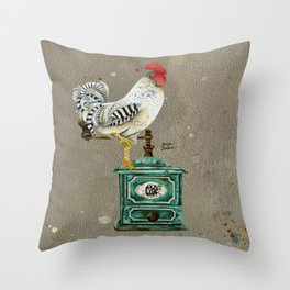 Rooster Wallace 2 Throw Pillow