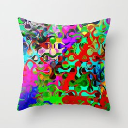 Modern Multi-colored Pattern Abstract Throw Pillow