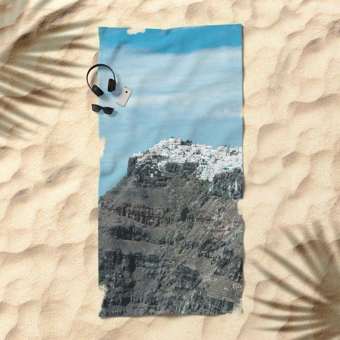 Santorini, Greece 16 Beach Towel