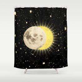 Imminent Eclipse Sun Moon & Stars Space Astronomy Cosmos Solar Lunar Shower Curtain