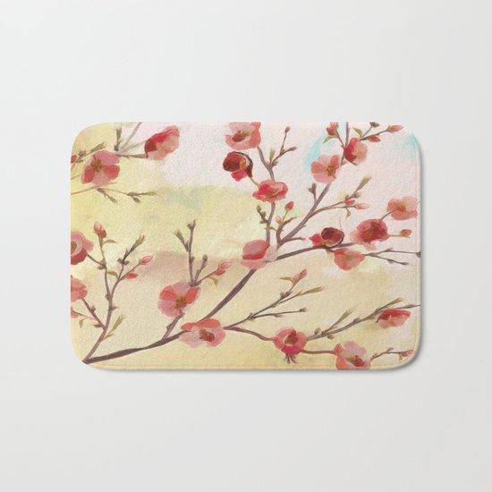 Cherry Blossom - Variation 2 Bath Mat