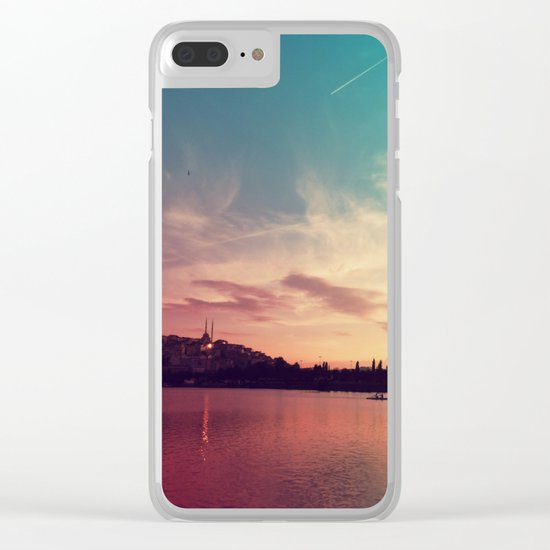 Istanbul Gradient Colors Clear iPhone Case