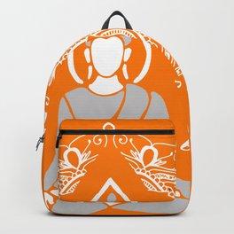 Meditation Buddha Mandala - orange Backpack