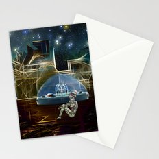 Do aliens get lonely as the lights begin to fade? Stationery Cards