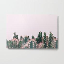 Pink Blush Cactus Metal Print