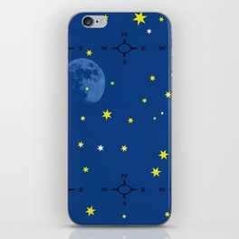 directional compass in space iPhone Skin
