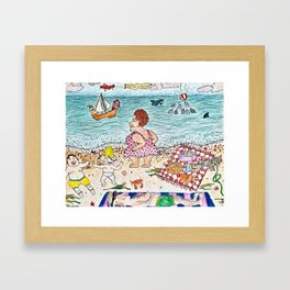 Welcome to Cape Cod Framed Art Print