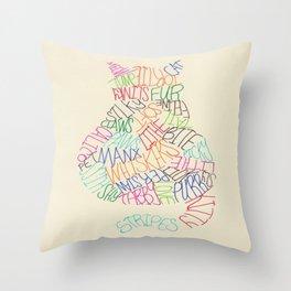 Kitty Print Throw Pillow