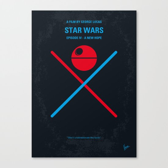 No154 My STAR Episode IV A New Hope WARS minimal movie poster Canvas Print