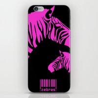 code iPhone & iPod Skins featuring Zebra Code by nessieness