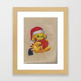 Xmas Pichu Framed Art Print