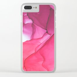 Red impression 1 Clear iPhone Case