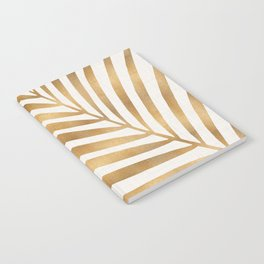 Metallic Gold Palm Leaf Notebook