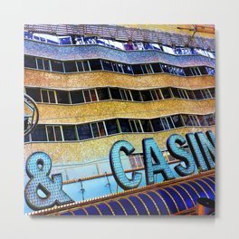 Pieces of Vegas Metal Print