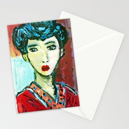 LADY MATISSE IN TEEN YEARS Stationery Cards
