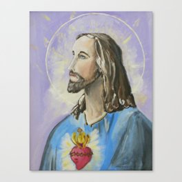 Profile of Sacred Heart of Jesus Canvas Print