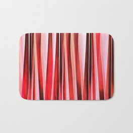 Red Adventure Striped Abstract Pattern Bath Mat