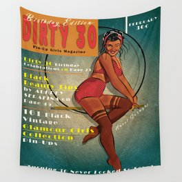 1930s Pin-Up Birthday Girl Wall Tapestry