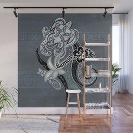 Vintage Samoan Turtle Collage Wall Mural