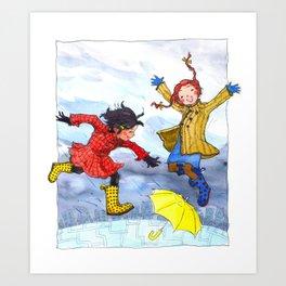 Rainy Day Fun Art Print