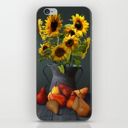Pears and Sunflowers iPhone Skin