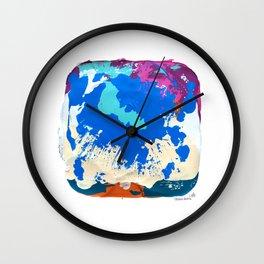 RAIN OVER CALICO Wall Clock