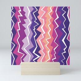 80s Zigzag 2 Mini Art Print