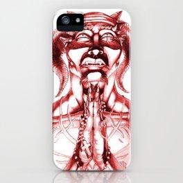 Prayer (Red) iPhone Case