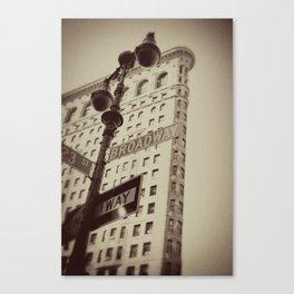 Flatiron and Broadway Canvas Print
