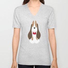 Beagle Love Beagle Long Ears Unisex V-Neck