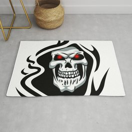 Skull tribal tattoo Rug