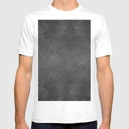 Black Faux Concrete Stone Texture Industrial Art T-shirt