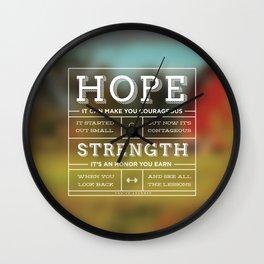 Hope & Strength Wall Clock