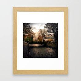 Lights of Lachine Framed Art Print