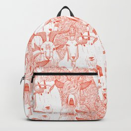 just goats flame orange Backpack