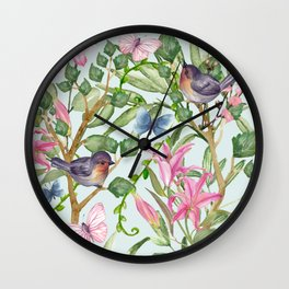 Spring Chinoiserie Wall Clock