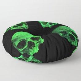 Skull quartet green Floor Pillow