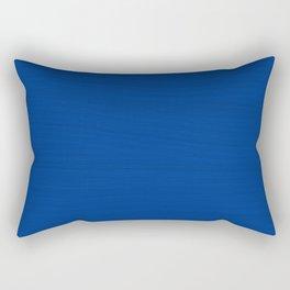 Slate Blue Brush Texture - Solid Color Rectangular Pillow