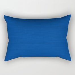 Slate Blue Brush Texture - Solid Color Rectangular Pillow