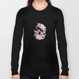 Flowers Surrounding a Hummingbird Long Sleeve T-shirt
