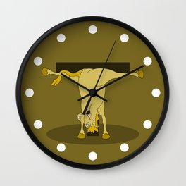 Monogram T Pony Wall Clock