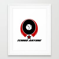 tennis Framed Art Prints featuring TENNIS  by Robleedesigns