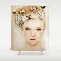 beast Shower Curtains featuring BEAST by Tessa