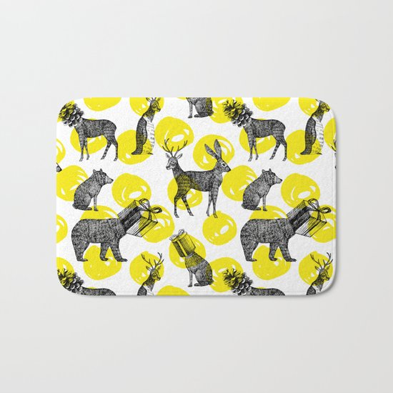 half animals pattern Bath Mat
