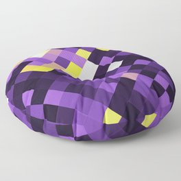 Nonbinary Pride Pixelated Angled Squares Floor Pillow