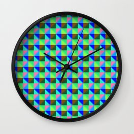 Eight Triangles Invert Pixel Wall Clock