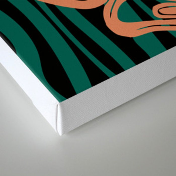 Teal and Coral Amorph Canvas Print